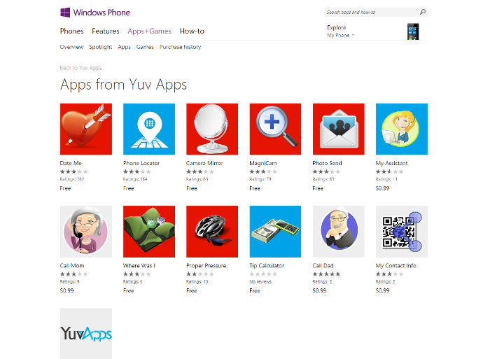 Several Windows Phone Apps